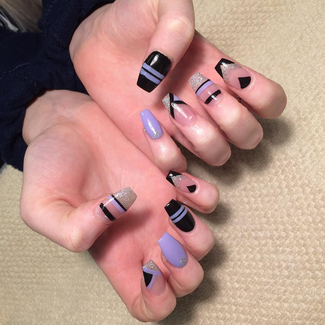 Beautiful Striped Nail Design