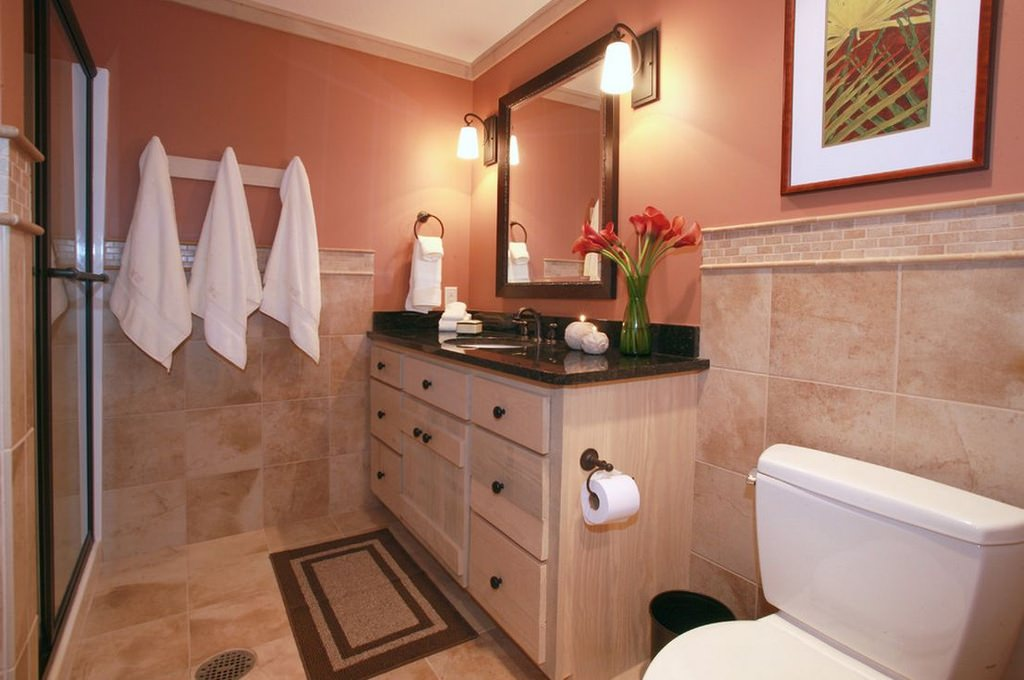 European Farmhouse Style Bathroom