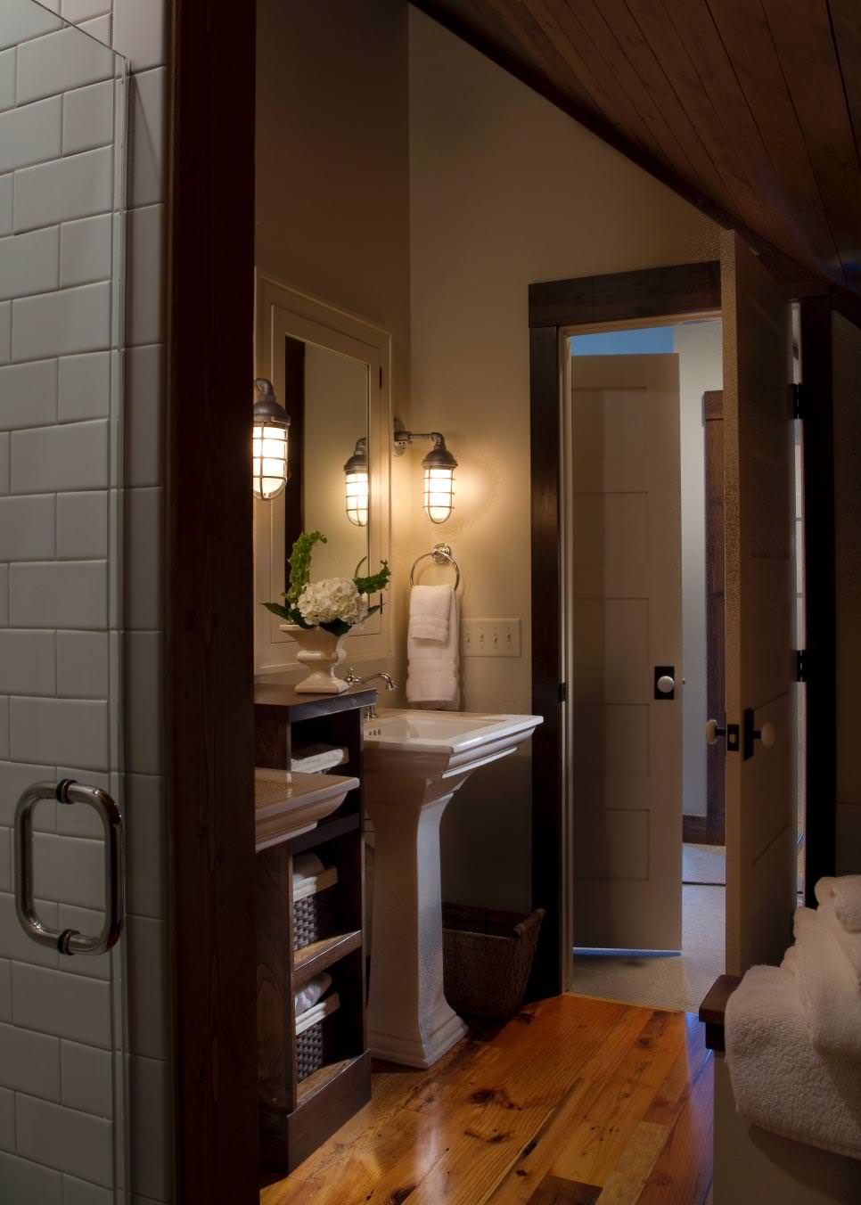 polished farmhouse bathroom