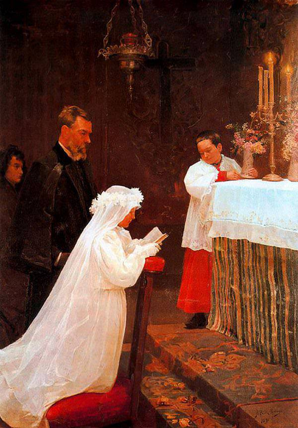 First Communion Painting