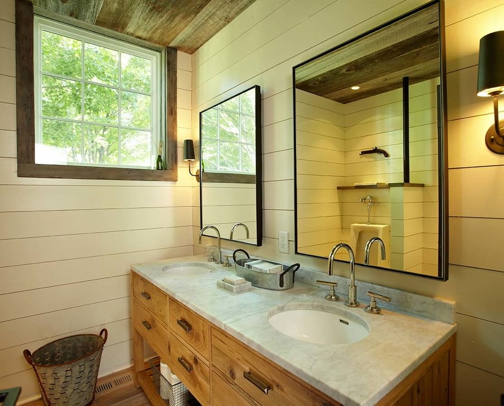 19 farmhouse style bathroom designs decorating ideas for Design of the bathroom