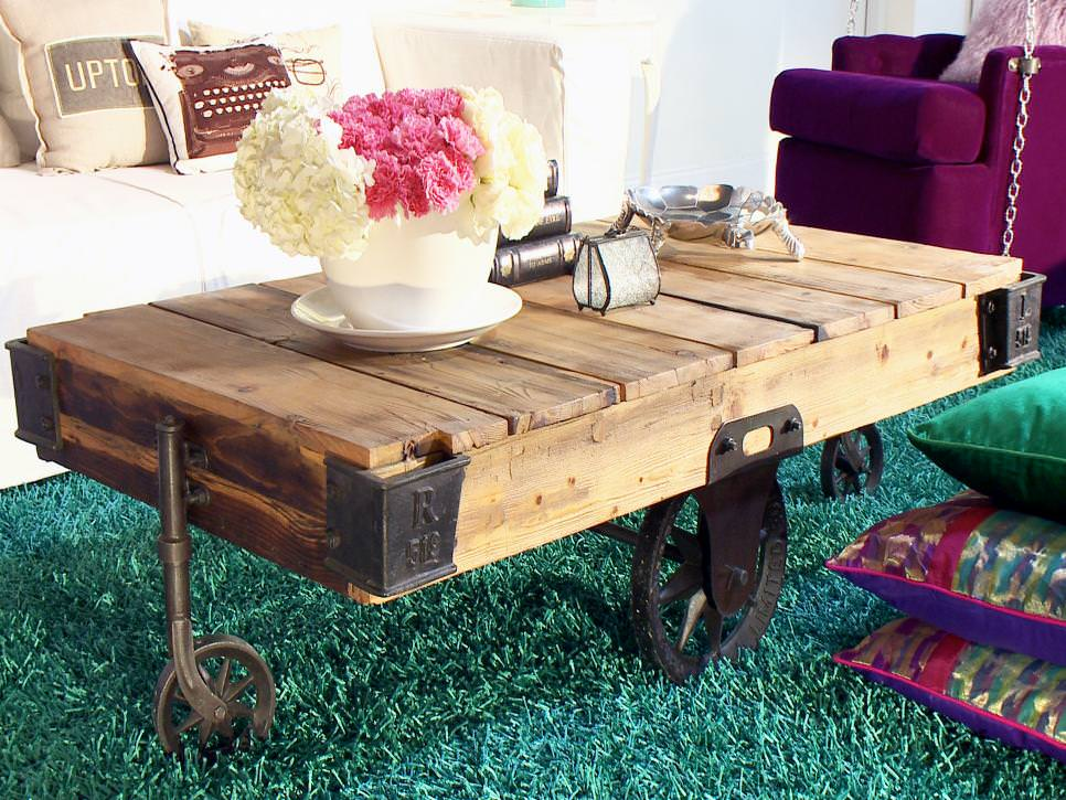 Stylish Rustic Coffee Table Design