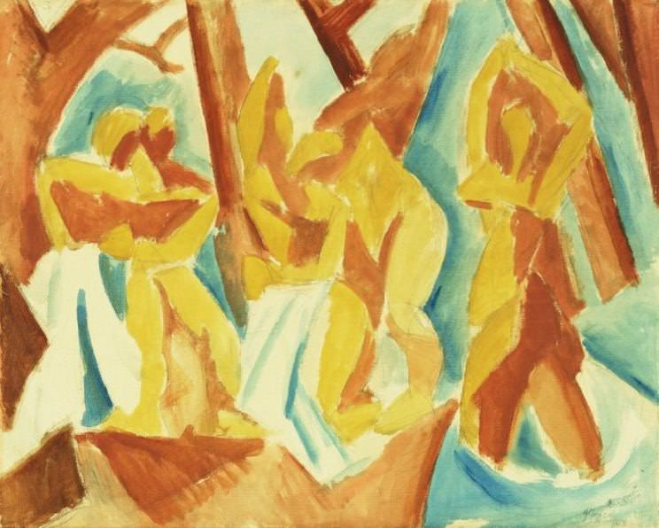 Bathers in a Forest