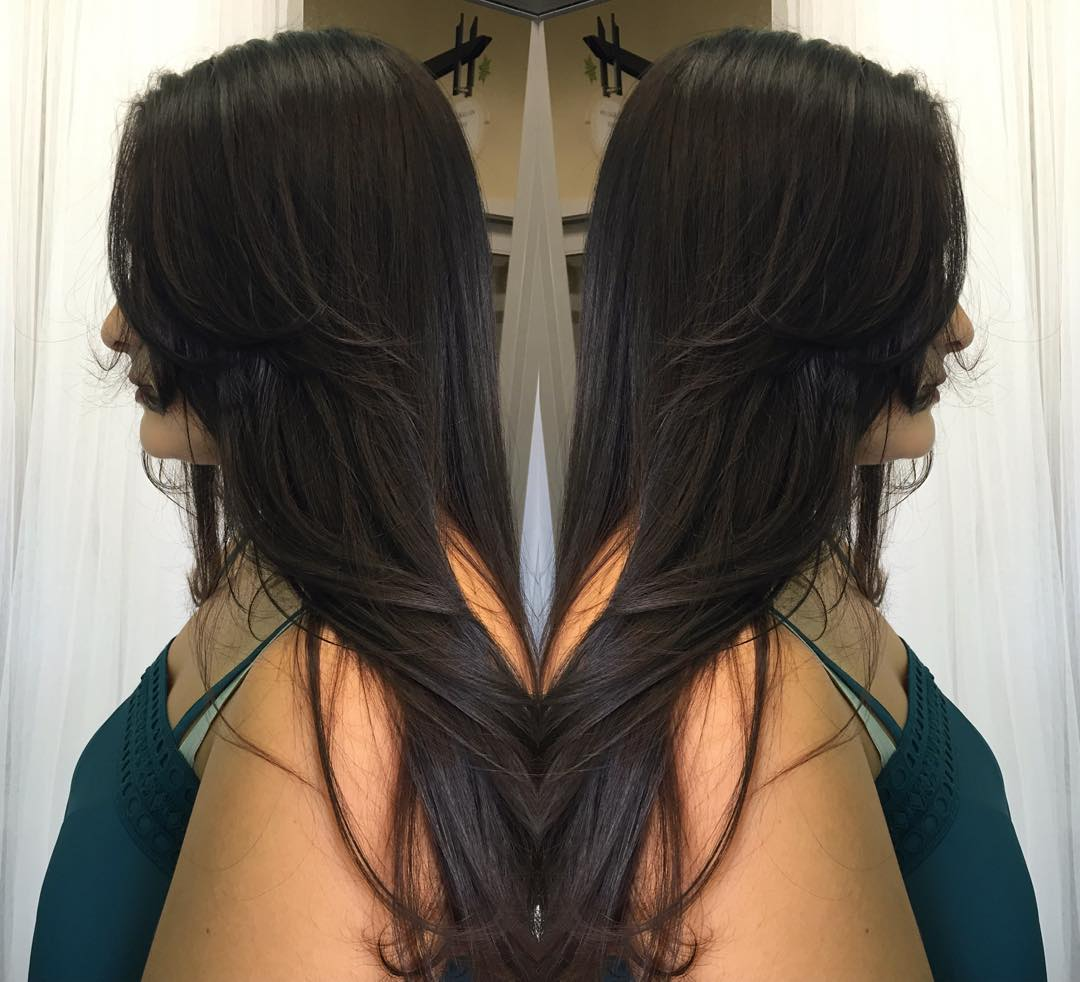 Amazing Black Long Layered Hair