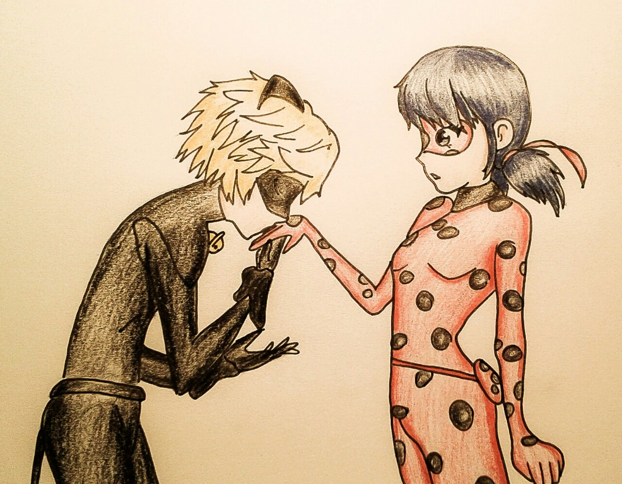 Lady Bug and Chat Noir Love