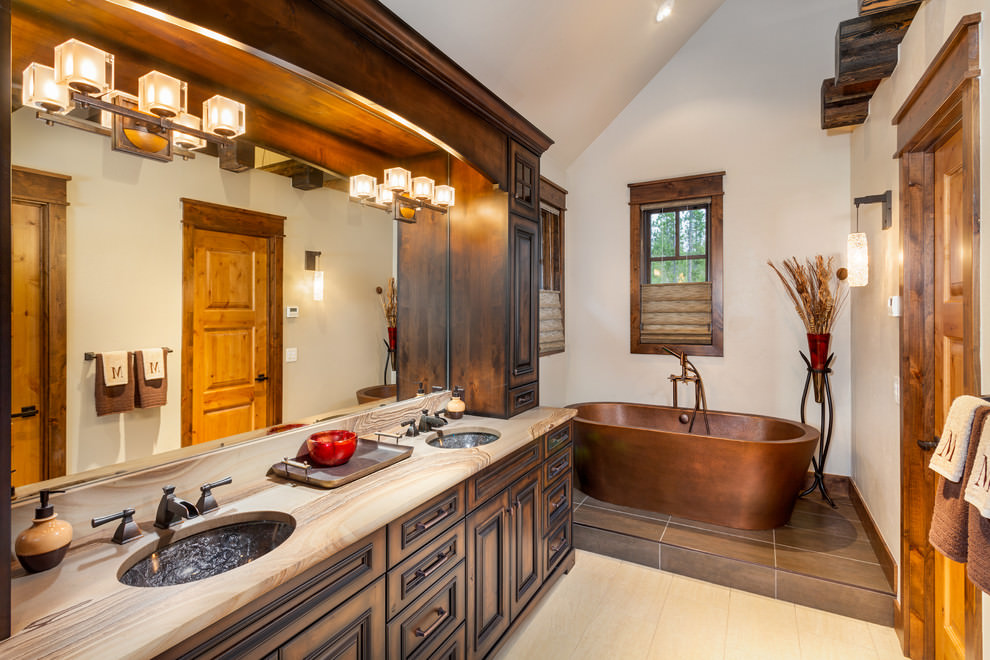 classic wooden bathroom