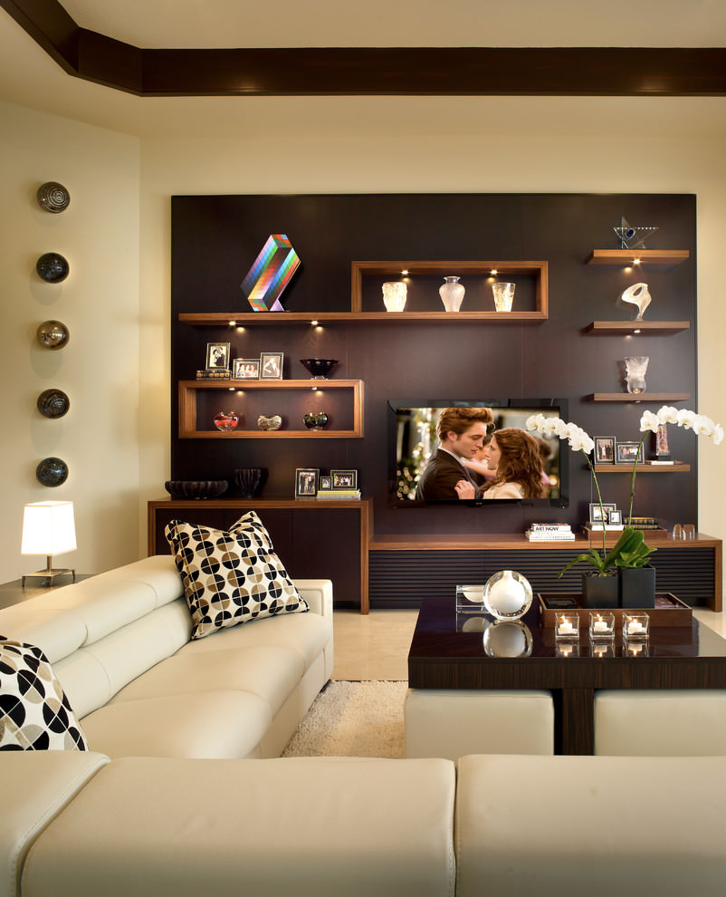 Living room wall shelves decorating ideas - Classy Cube Wall Shelf Design