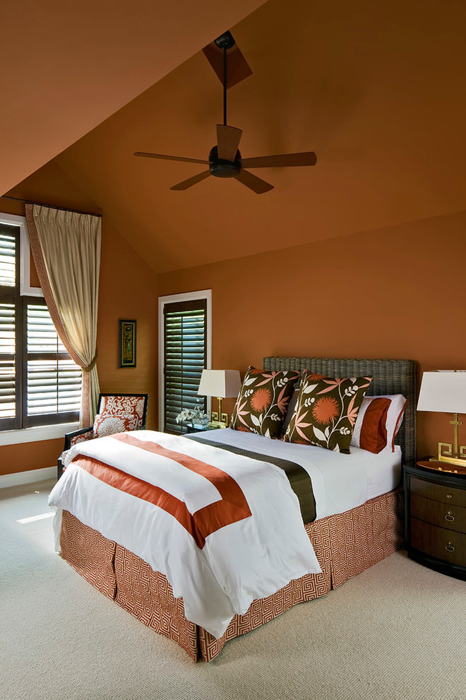 Ravishing orange bedroom design