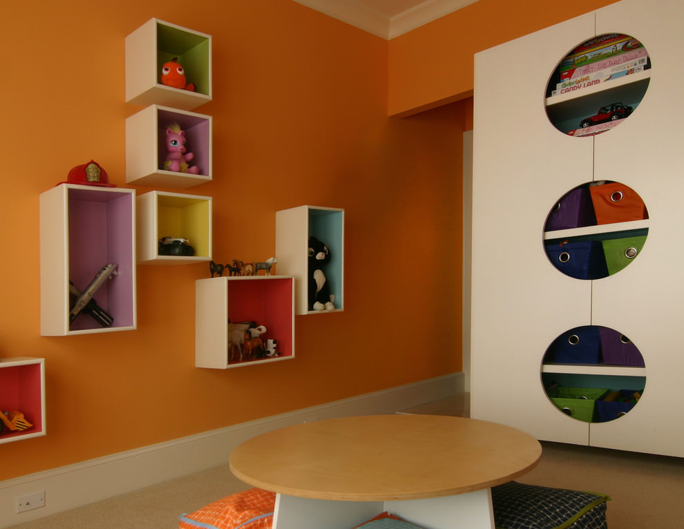 Charming Cube Wall Shelf Design