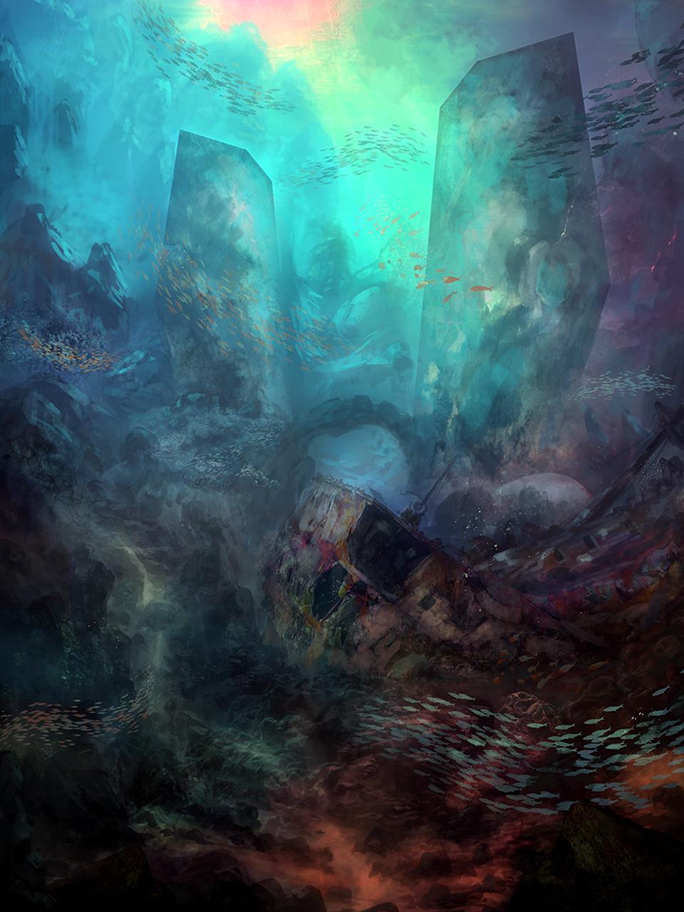 underwater paradise painting