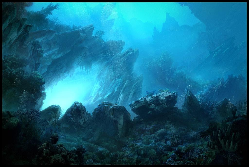 matte underwater painting