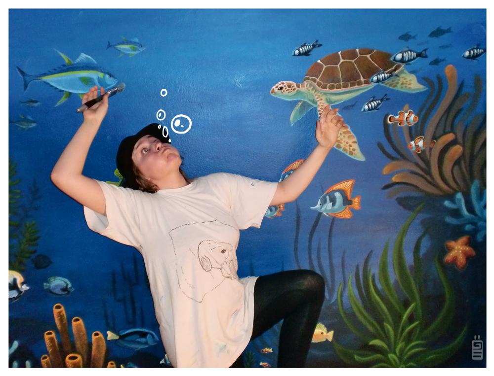 mural underwater painting