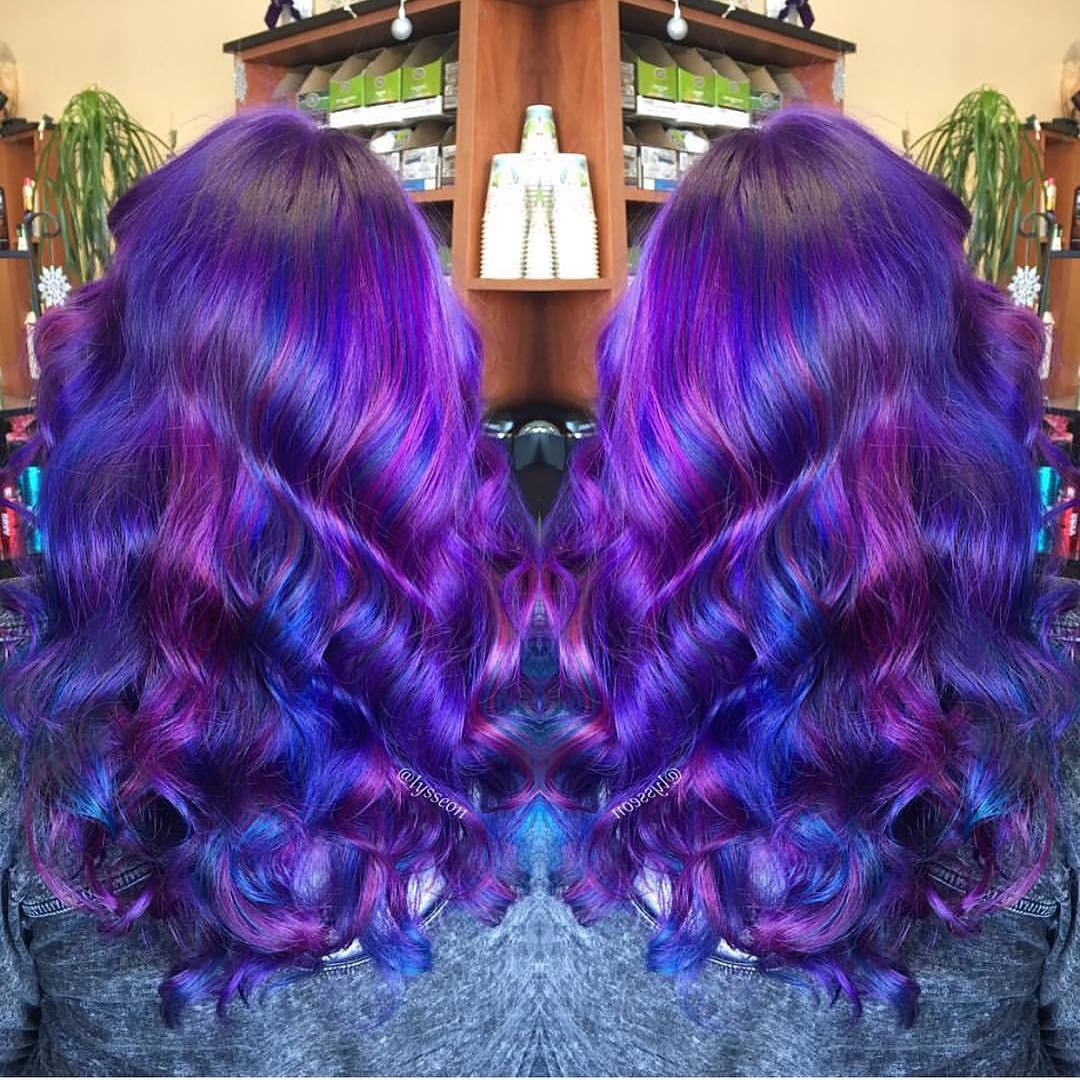 Colorful Curly Hairstyle