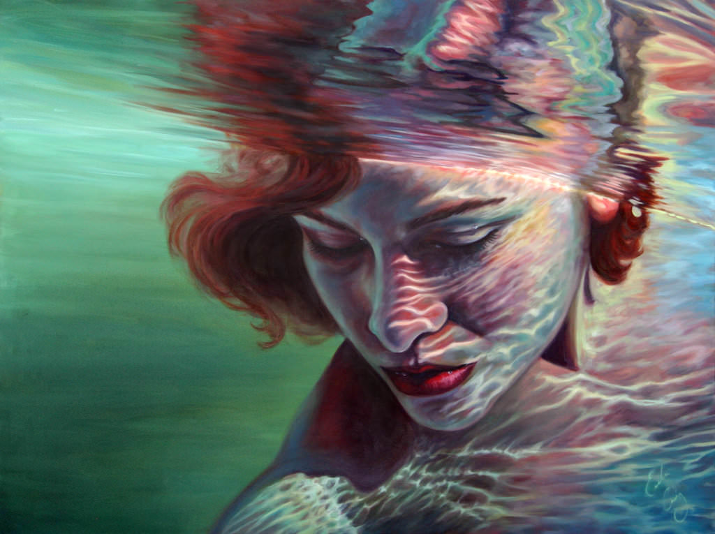 Transcendence Underwater Painting