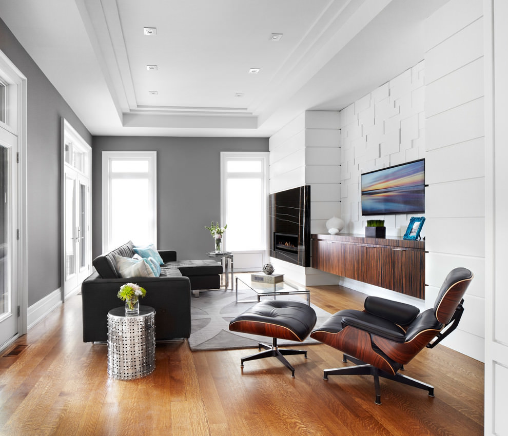 Contemporary Black Living Room Couches