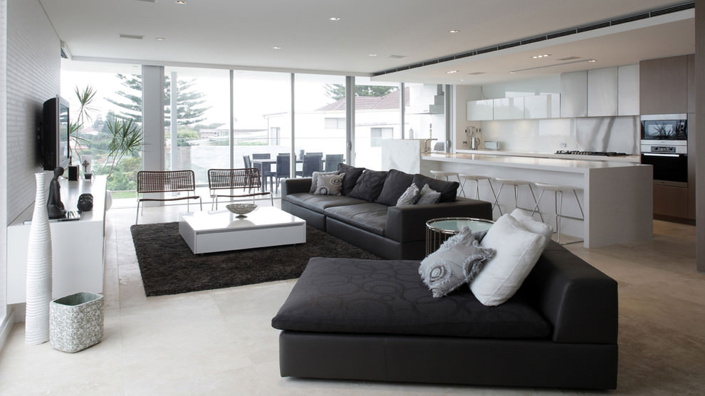 Wide Black Living Room Couches