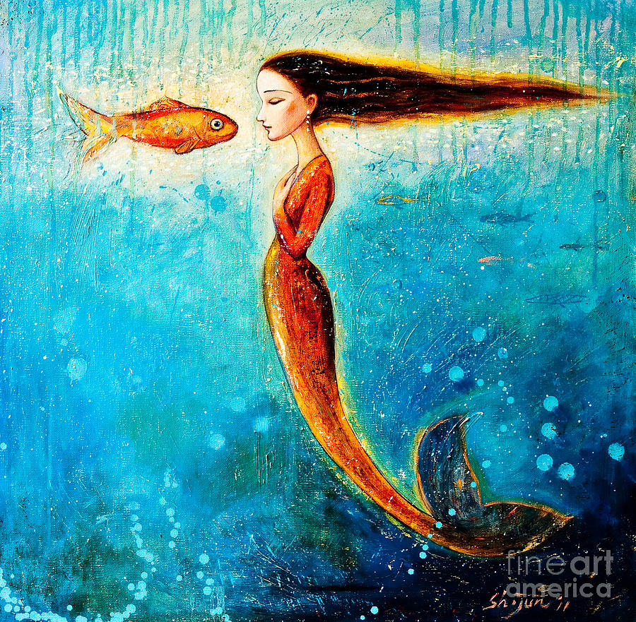 Mystic Mermaid Beautiful Painting