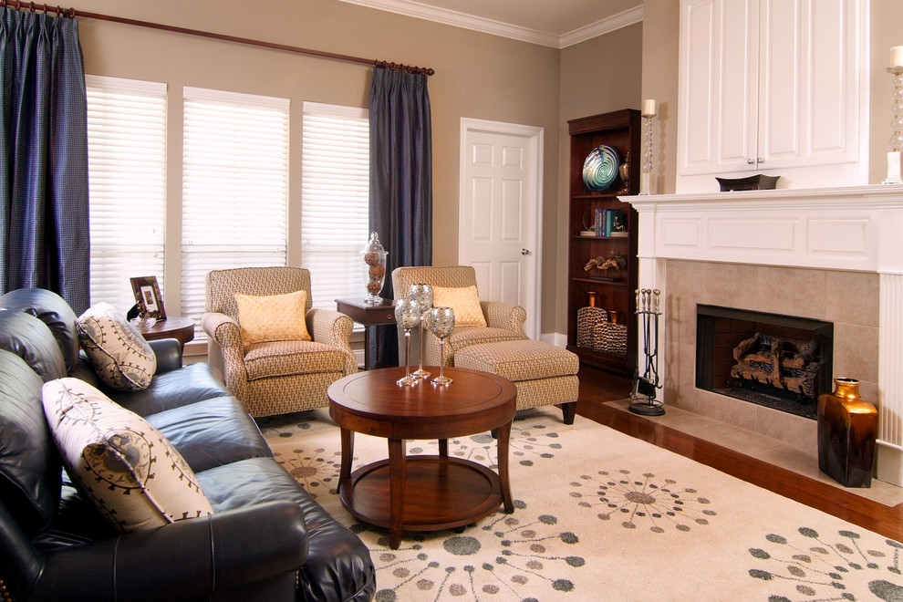 Traditional Black Living Room Couches