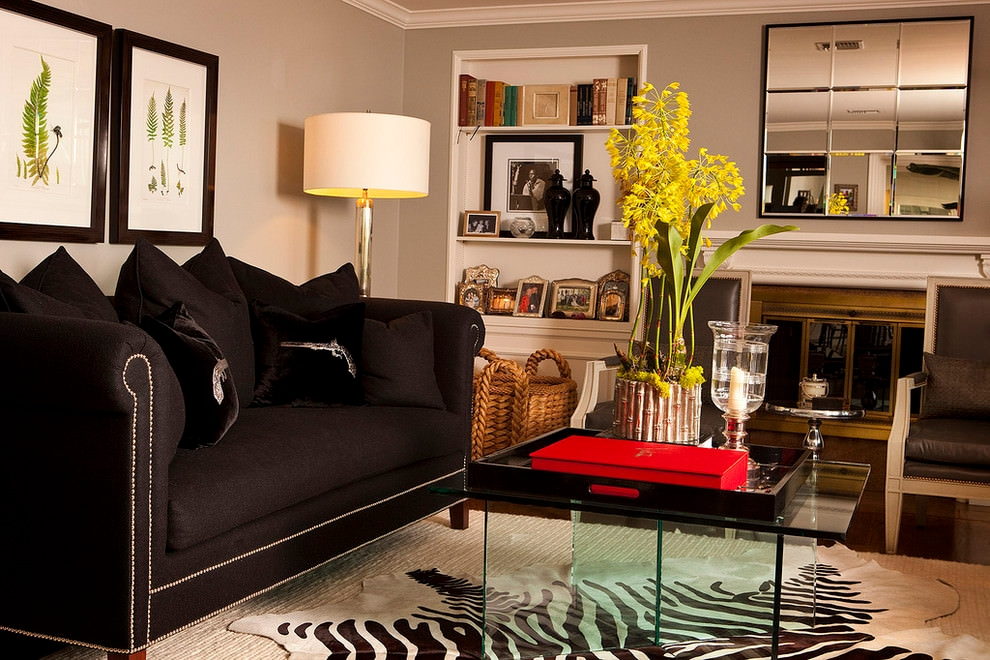 Beautiful Black Living Room Couches