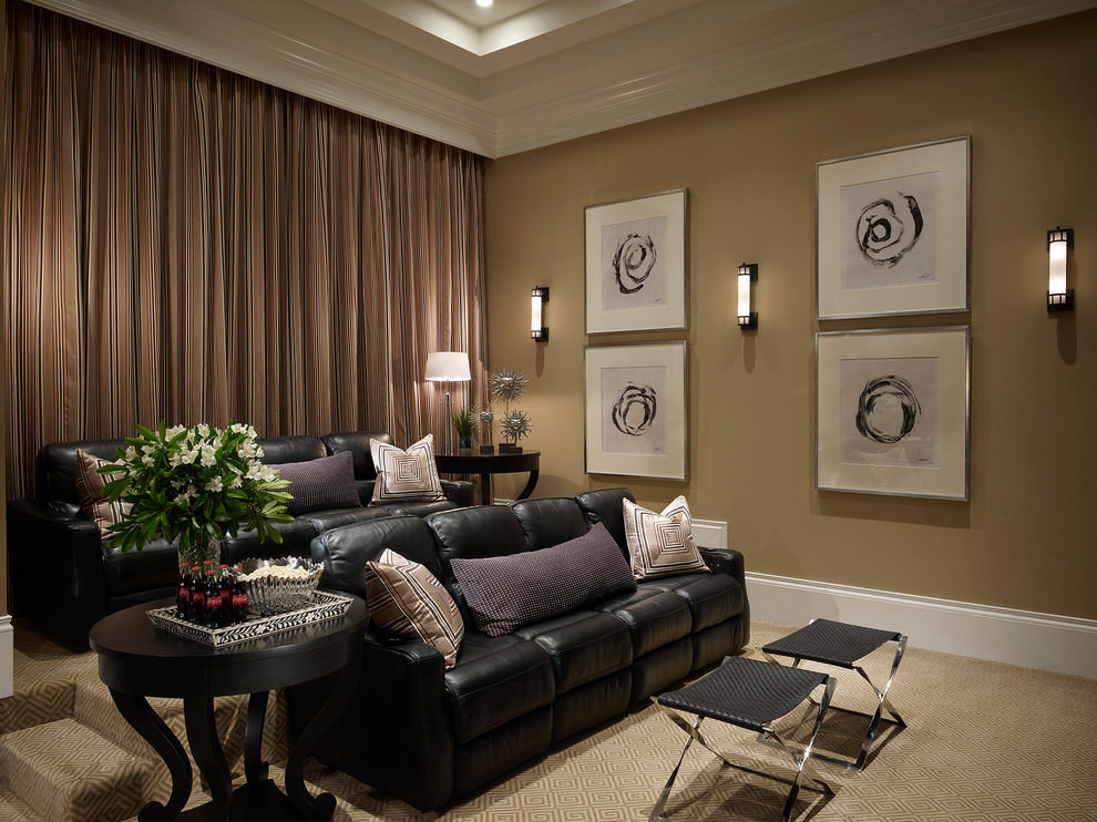 Transitional Black Living Room Couches