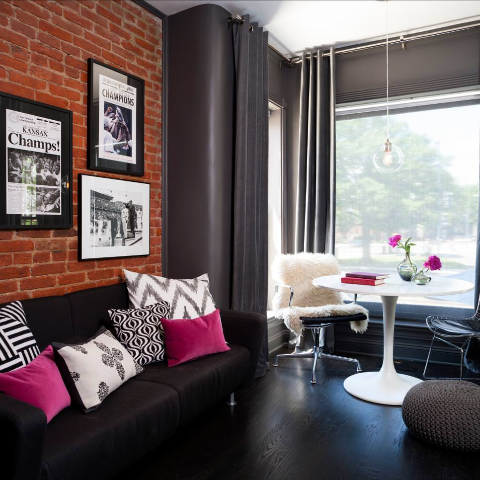 Stylish Black Living Room Couches