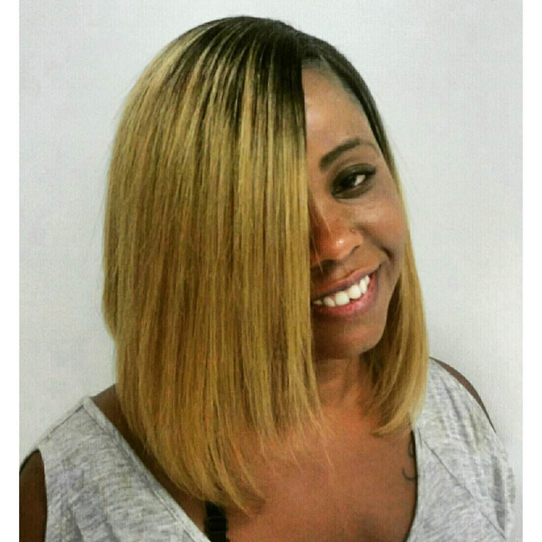 Gold Shine Bob Weave Hairstyle