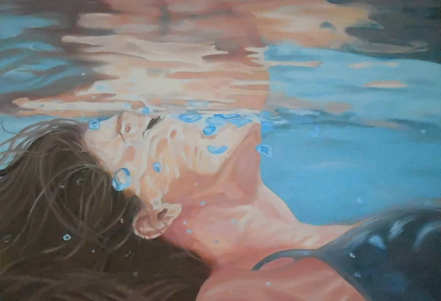 Aquatic Sleep Painting Under The Water