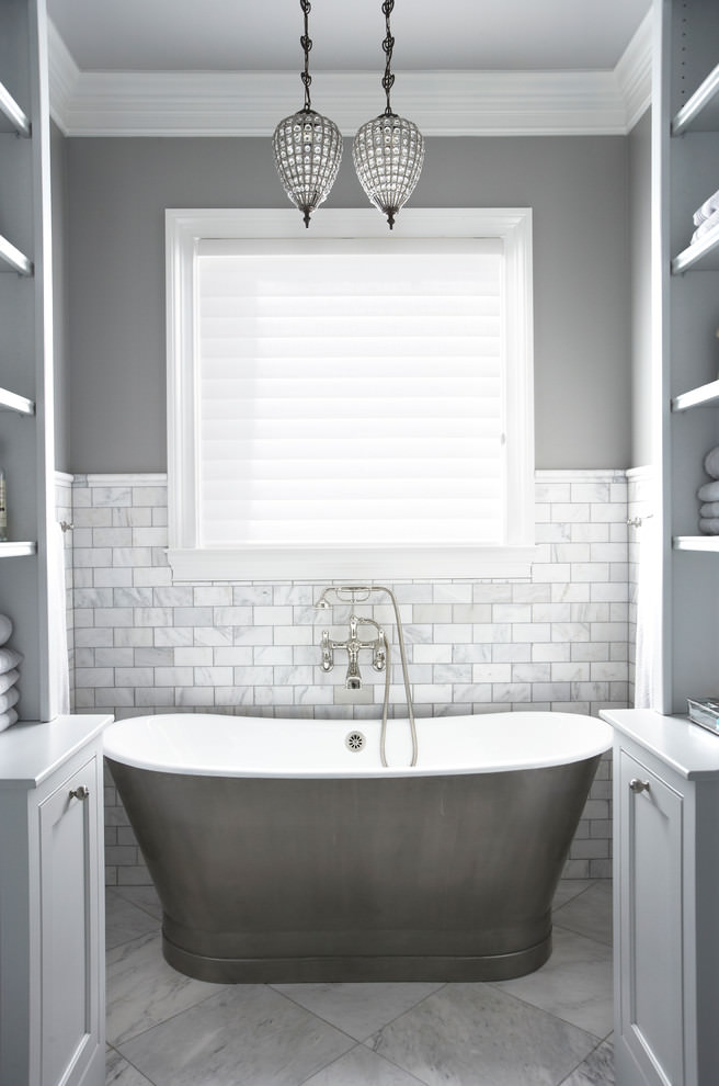 Bathroom Design Grey And White Grey And White Traditional Bathroom