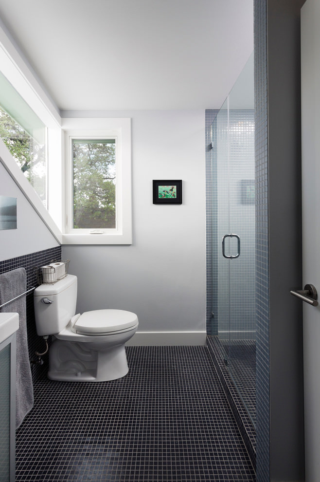 Kids Bathroom with Corner Windows