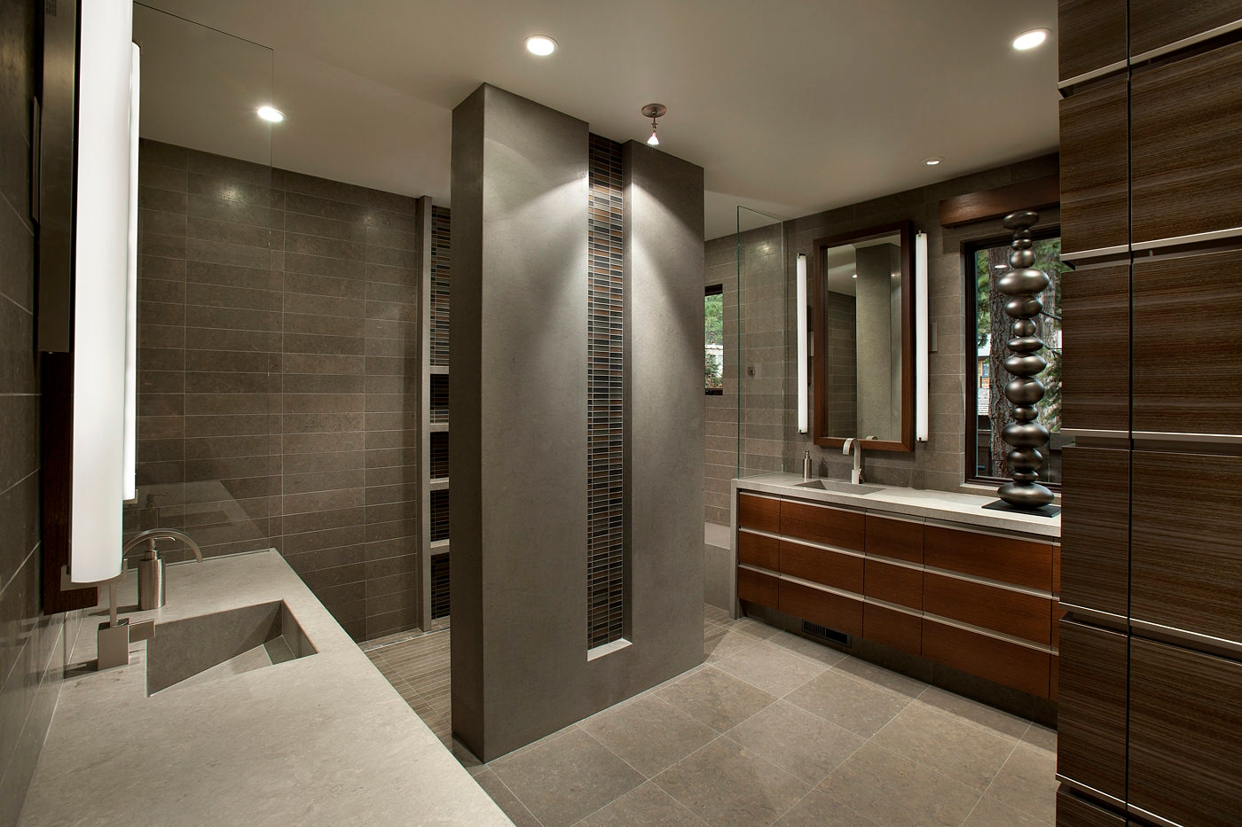 22 stylish grey bathroom designs decorating ideas for Contemporary bathrooms