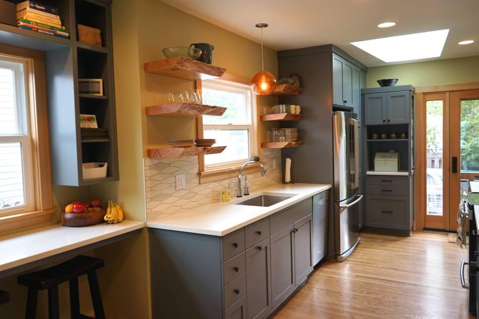 Modern Wood Shelves Design