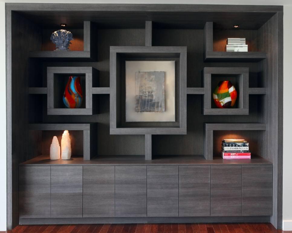 Gray Modern Shelves Design