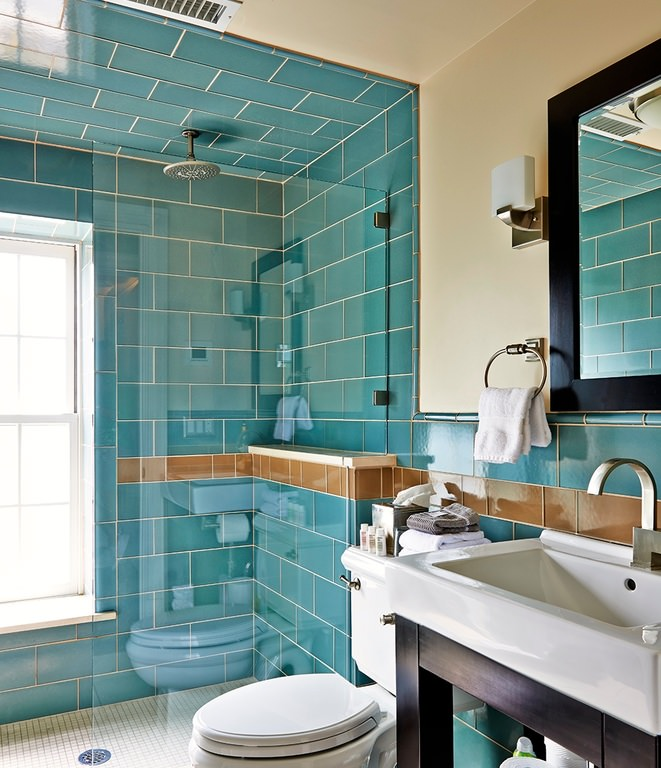 18 turquoise bathroom designs decorating ideas design for Full bathroom design ideas