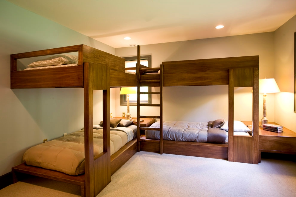 bright modern bunk bed design
