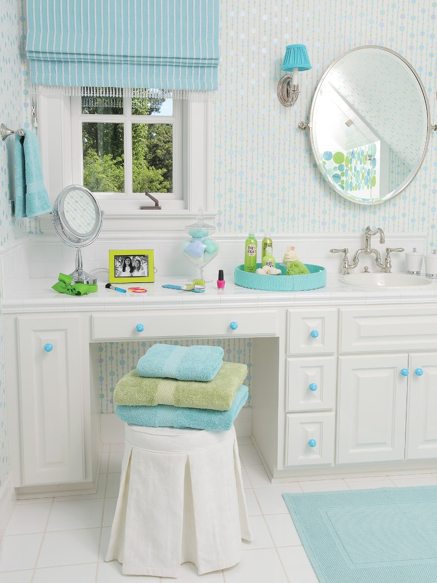 18 turquoise bathroom designs decorating ideas design for Teen bathroom pictures