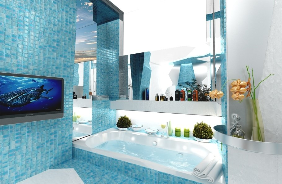 beautiful turquoise bathroom1