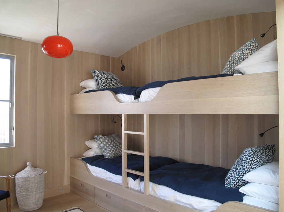 flat modern bunk bed design