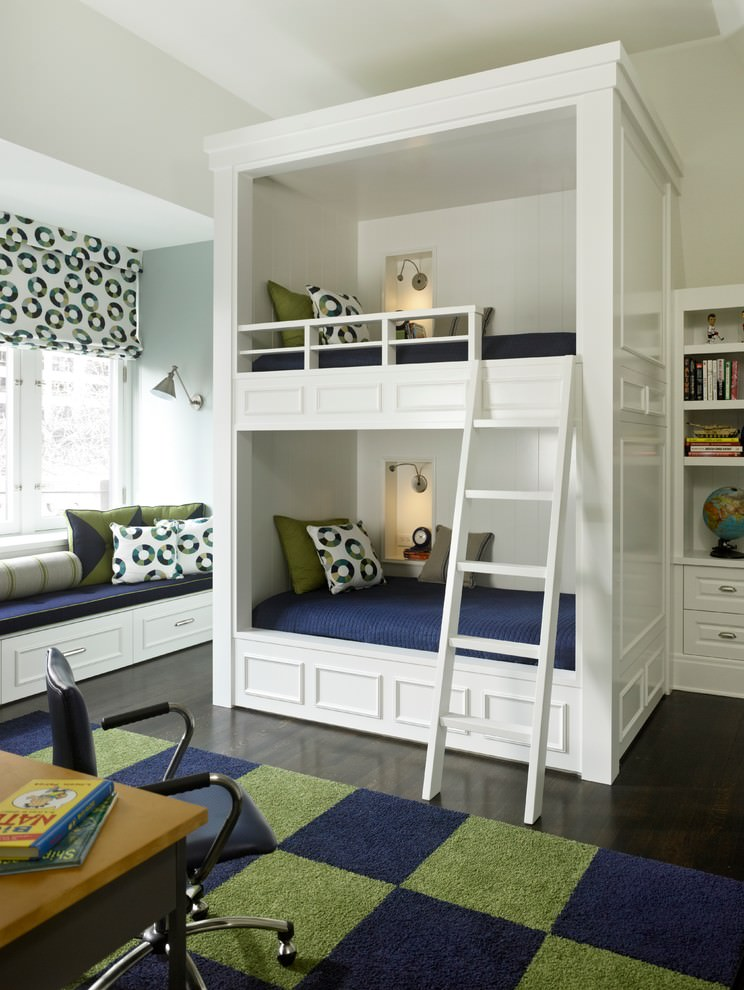 pretty modern bunk bed design