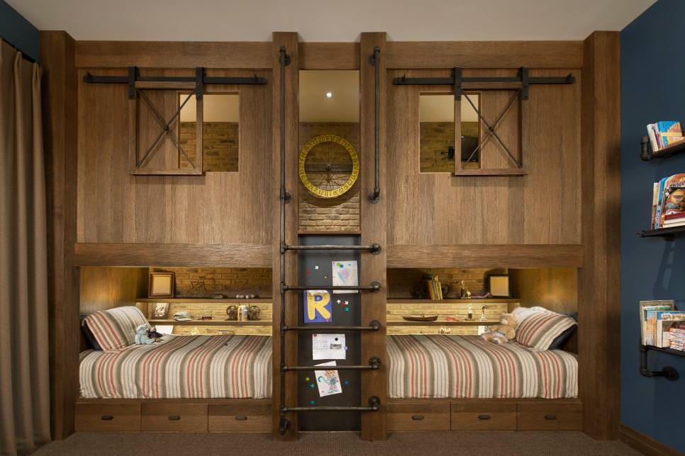 rustic modern bunk bed design