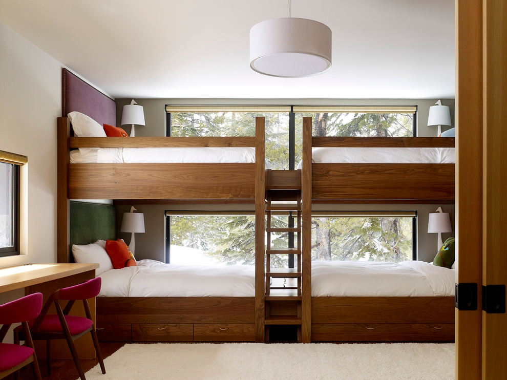 simple modern bunk bed design