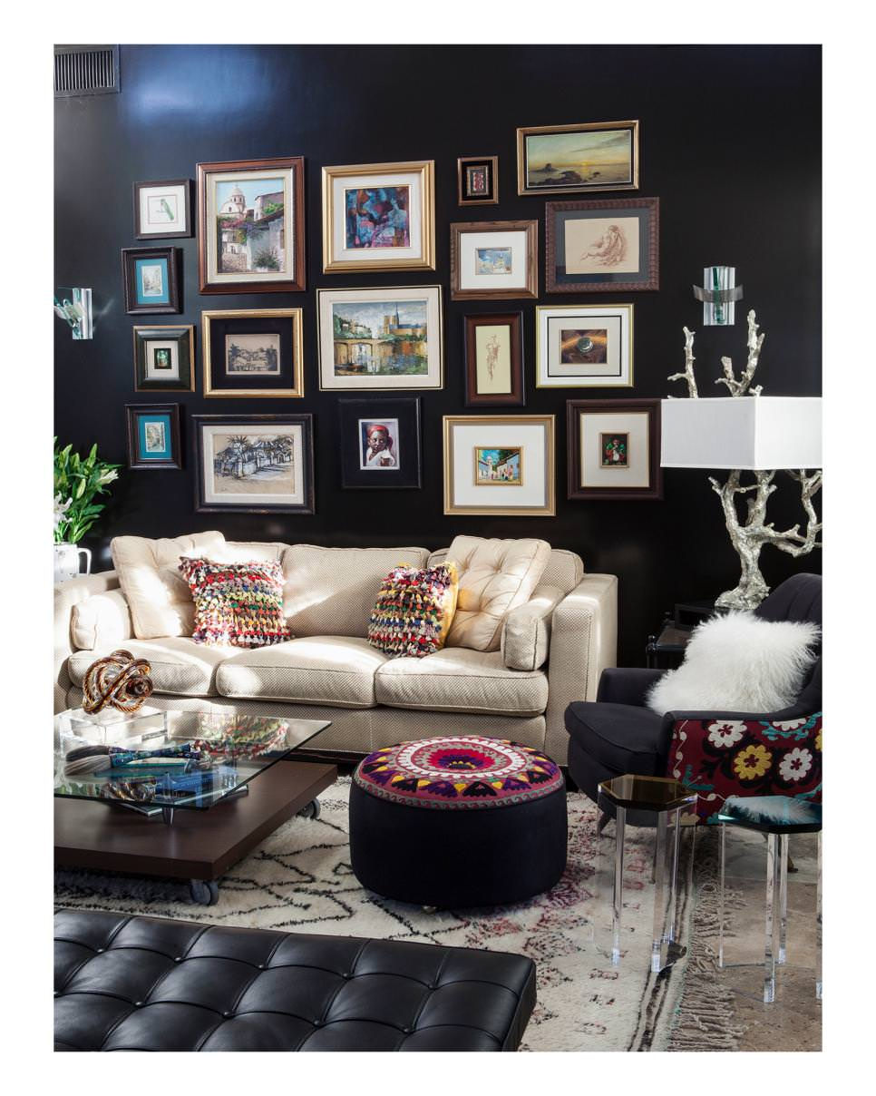 21+ Black Living Room Designs, Decorating Ideas | Design ...