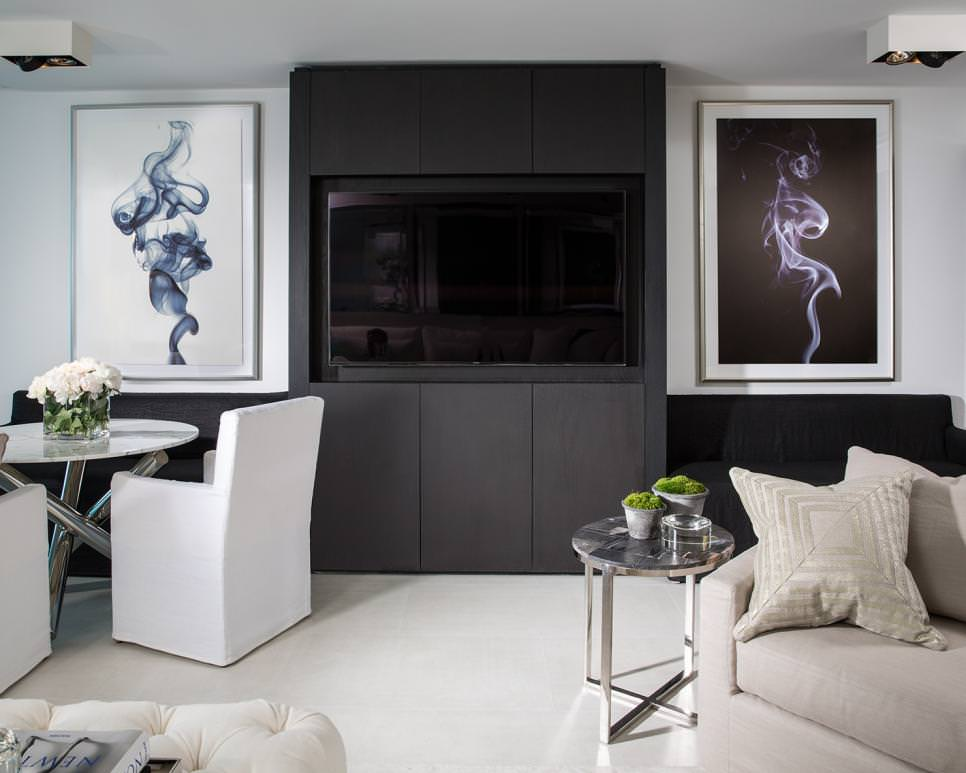 21+ Black Living Room Designs, Decorating Ideas