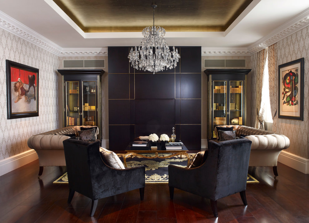 Classic Black Living Room Design
