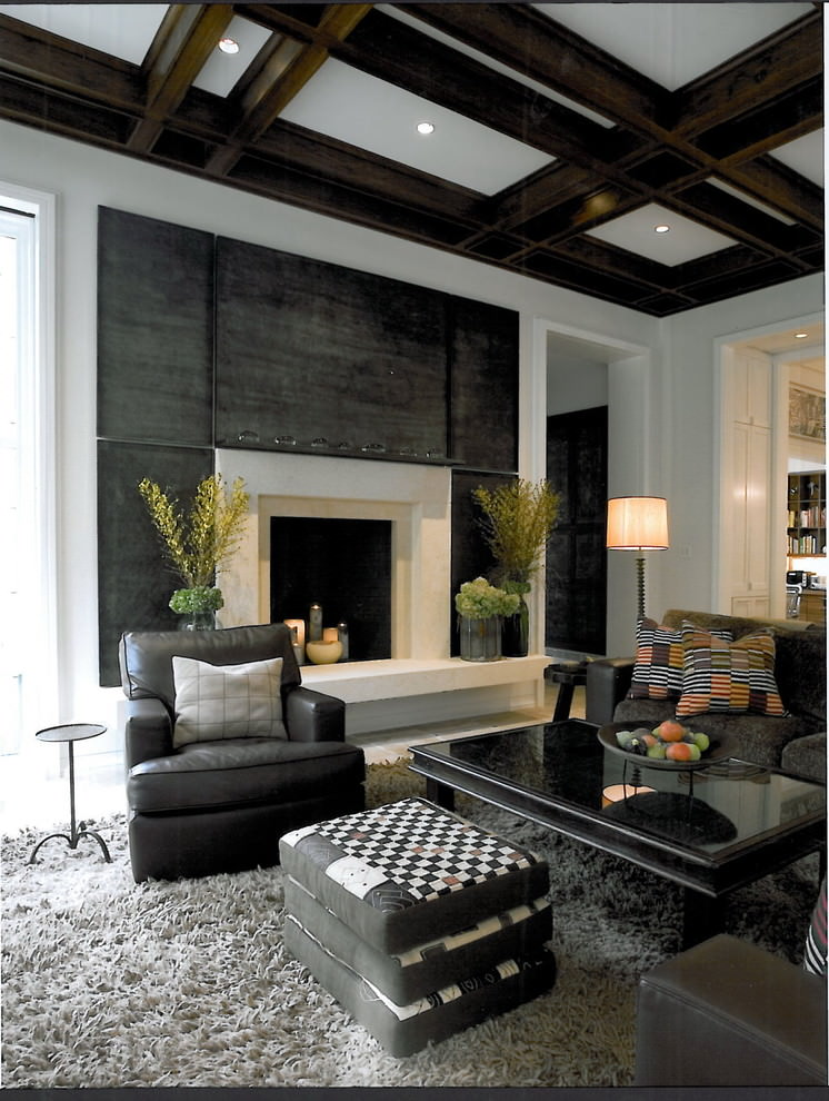 Contemporary Black Living Room Design