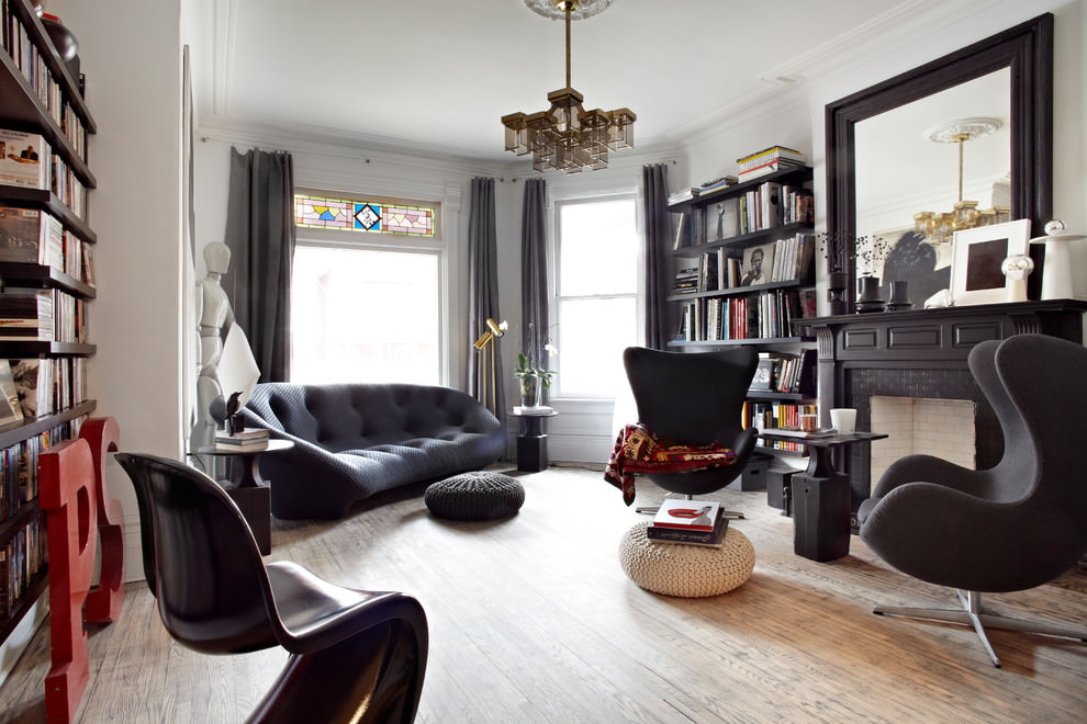 Stylish Black Living Room Design