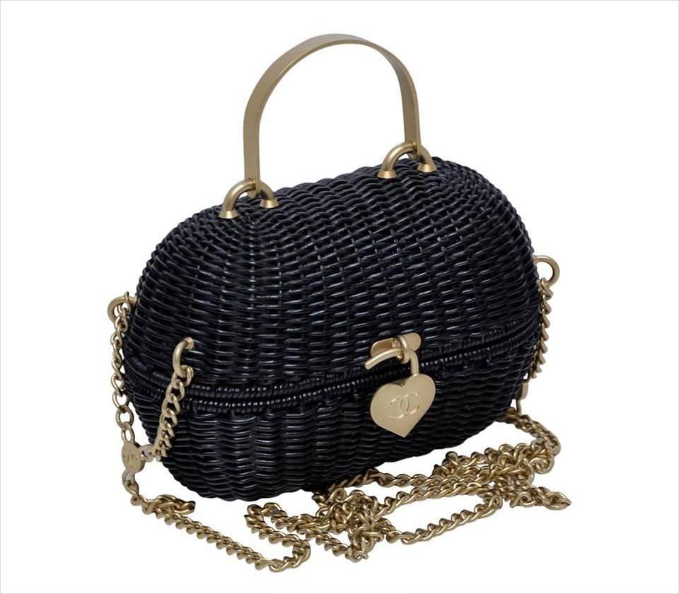 Chanel Black Heart Closure Bag