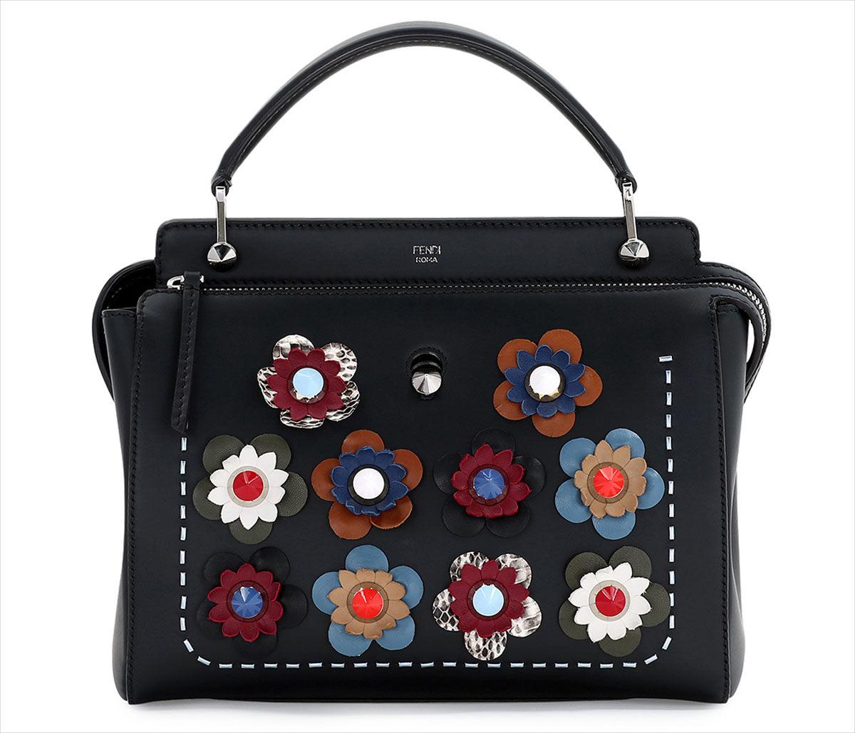 Fendi Floral Leather Bag