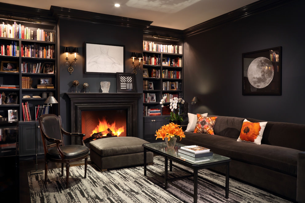 Luxirious Black Living Room Design