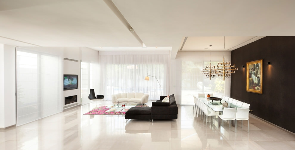Chin Black Living Room Design