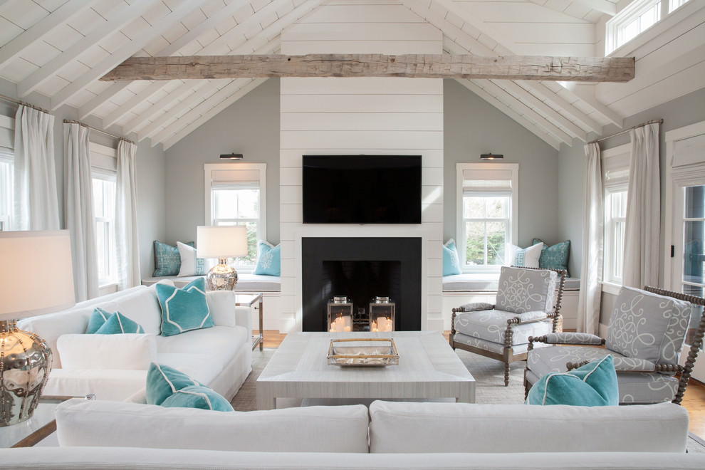 Amazing Beach Style Living Room Design Ideas With Cool Living Room ...